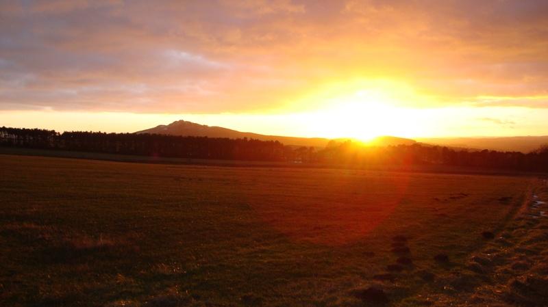 Sunset on Ruberslaw